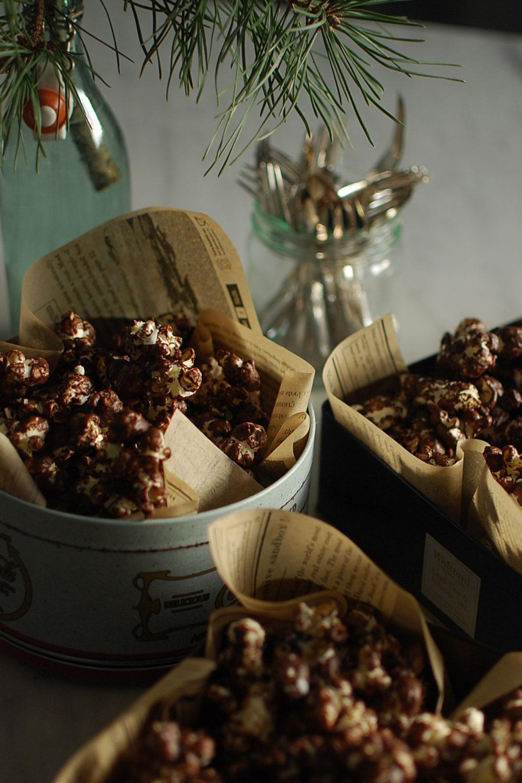 Enkelt julgodis: Chokladpopcorn